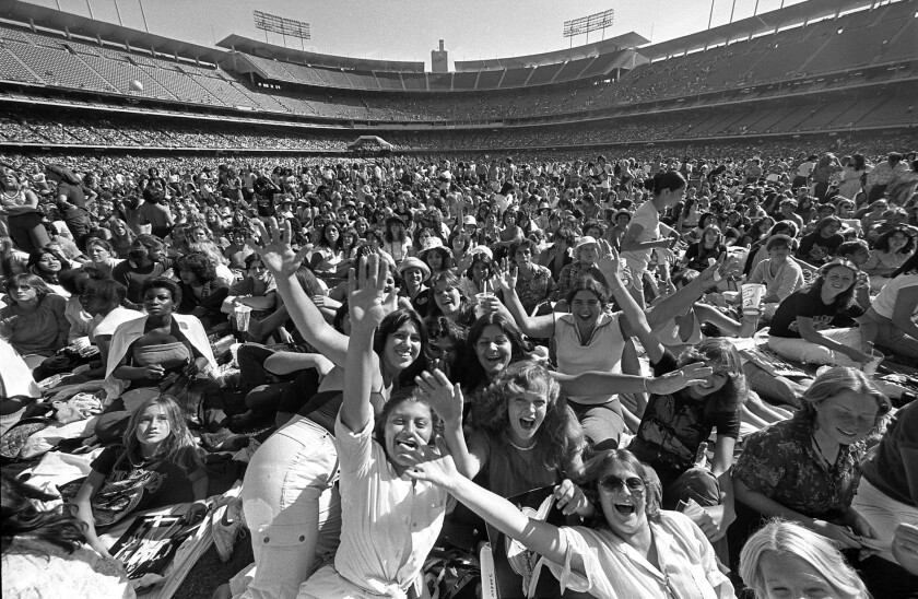 A Bee Gees concert at Dodger Stadium in 1979