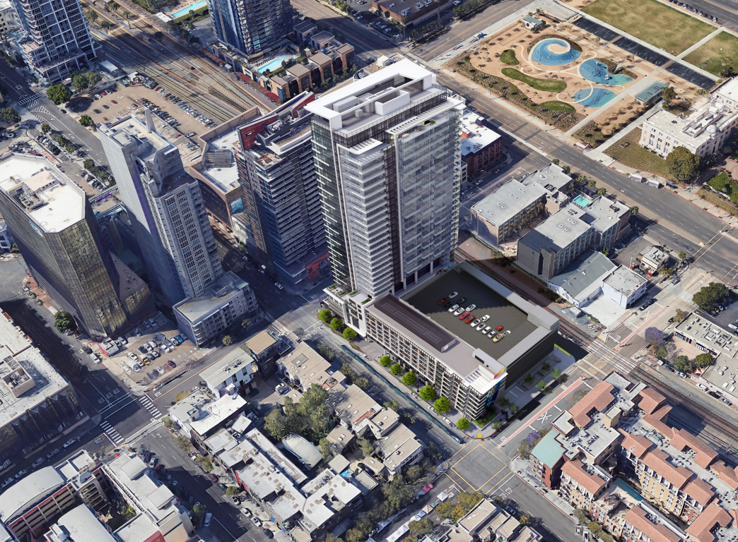 Little Italy tower, with market rate and senior housing, approved