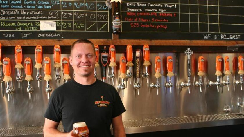 Andy Richards, bartender at Rip Current Brewing