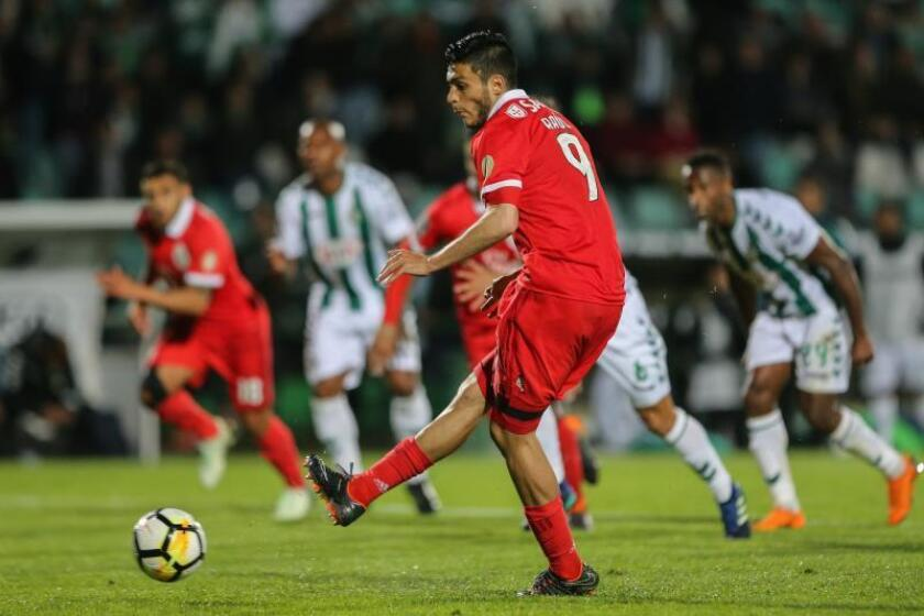 Benficaís player Raul Jimenez. EFE/Archivo
