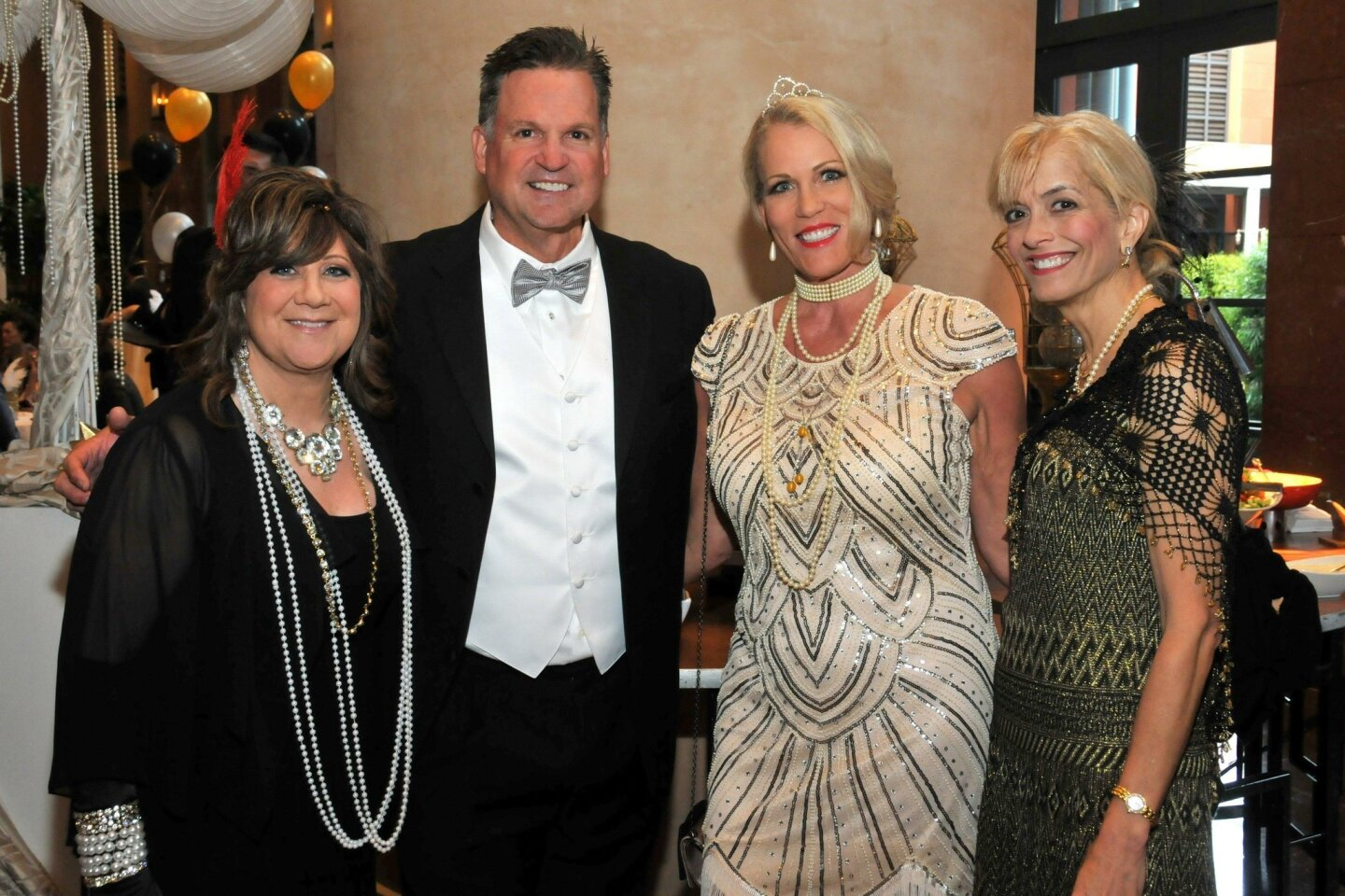 Spinoff gala chair Robin Rady, Randy and Teresa Cundiff, Vickie Curd Ladt