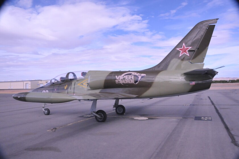 Soviet-era jet trainer used by David Riggs