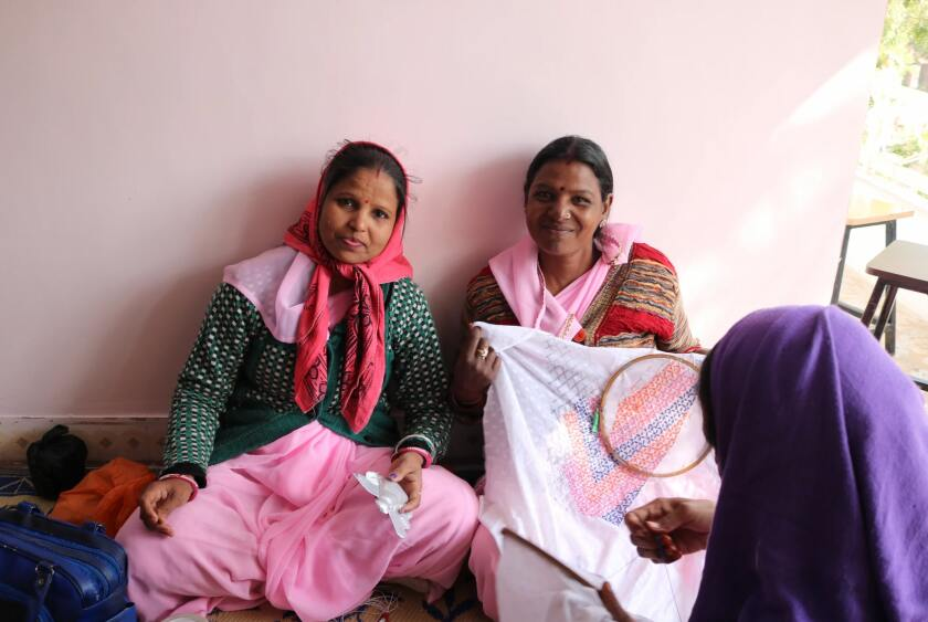 Project Tasveer is contributing to an effort that helps women learn to sew.
