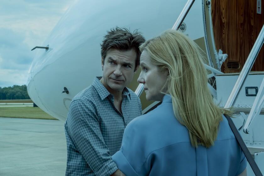 "Jason Bateman and Laura Linney in Netflix's ""Ozark."""