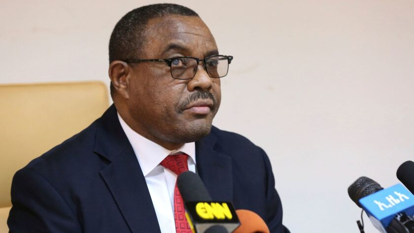 Ethiopian Prime Minister Hailemariam Desalegn, during press conference in Addis Ababa, Ethiopia, Thu