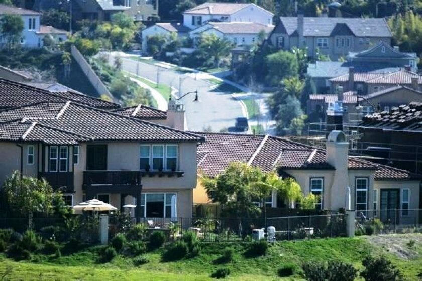 Homes in San Marcos. The city is updating its general plan, with a focus on housing.