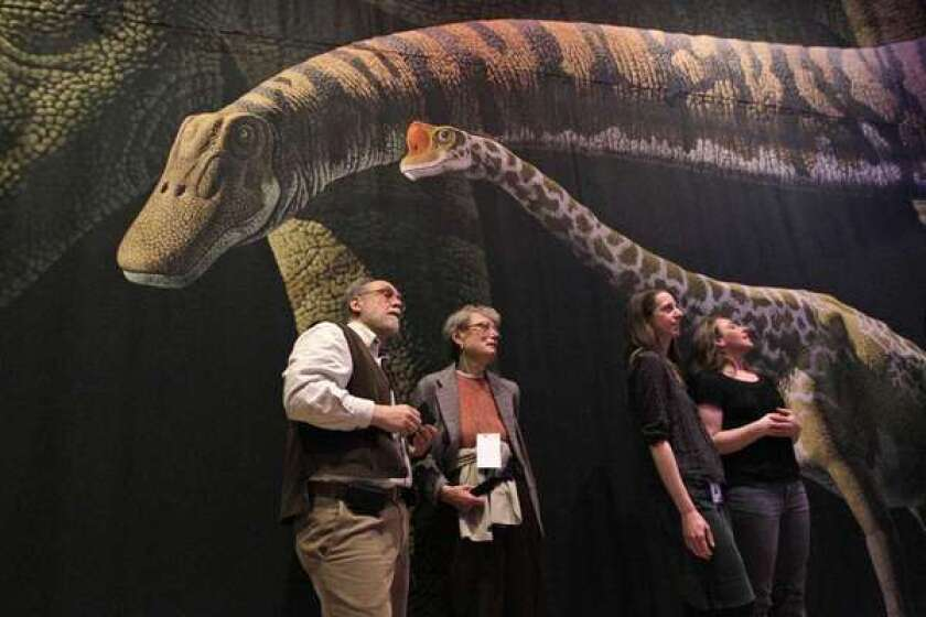 sauropod exhibit, American Museum of Natural History