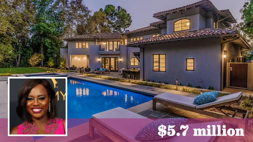 """""""How to Get Away with Murder"""" star Viola Davis has bought a home in Toluca Lake for $5.7 million."""