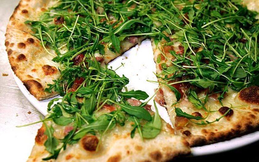 Ciccolina has pancetta and arugula.