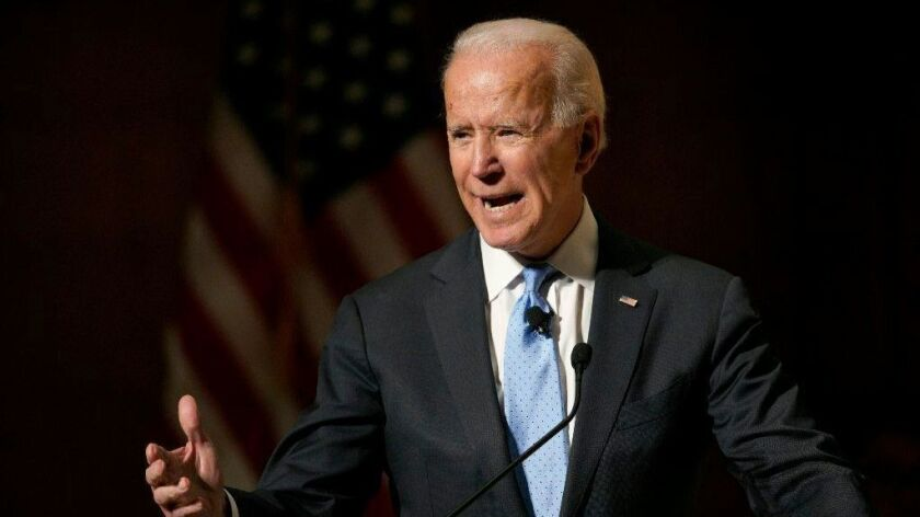 Former Vice President Joe Biden isn't an official presidential candidate yet, but he's touring primary states just in case.