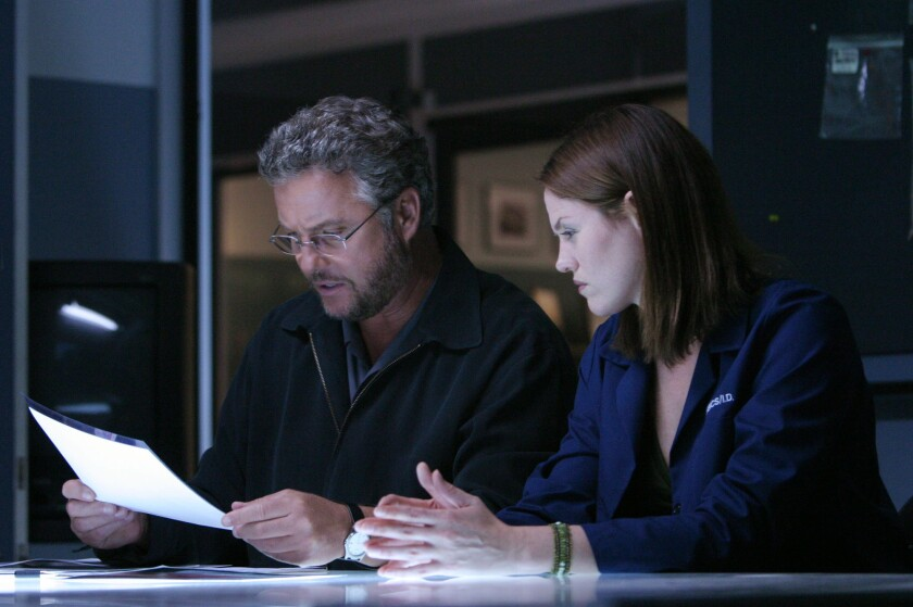 """William Petersen and Jorja Fox in """"CSI: Crime Scene Investigation."""""""