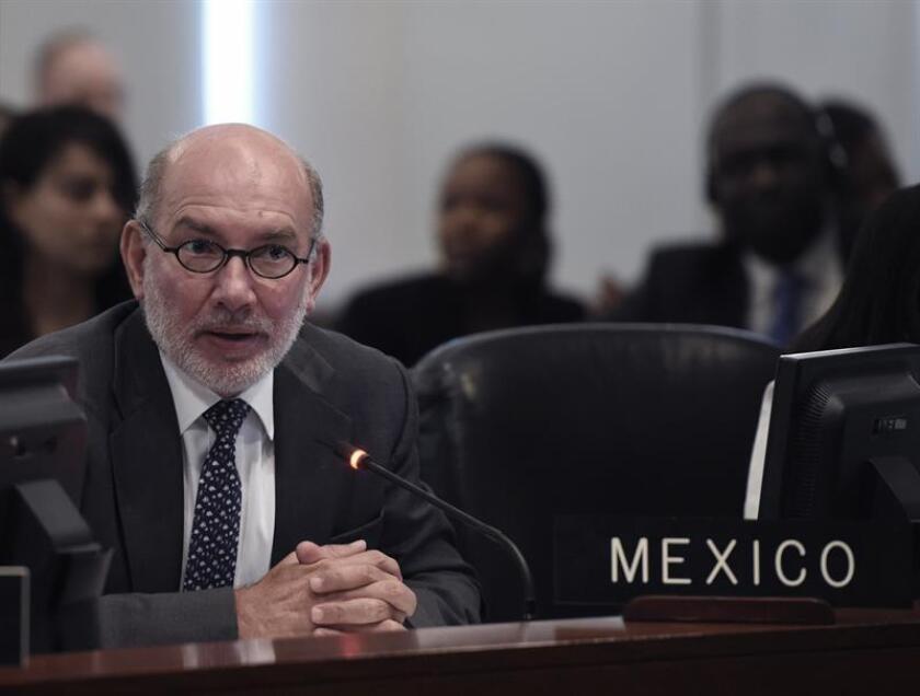 México propuso hoy en la Organización de Estados Americanos (OEA) que la Asamblea General de este año se celebre en su capital, Ciudad de México, entre el 19 y el 21 de junio, sin oposición de ninguna delegación. EFE/ARCHIVO