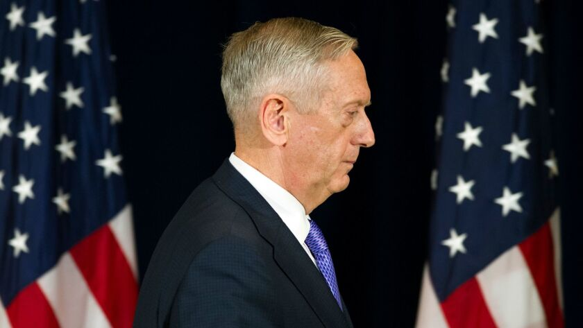 """""""We will use this additional time to evaluate more carefully the impact of such accessions on readiness and lethality,"""" Defense Secretary James N. Mattis said in a memo on whether to allow transgender enlistments."""