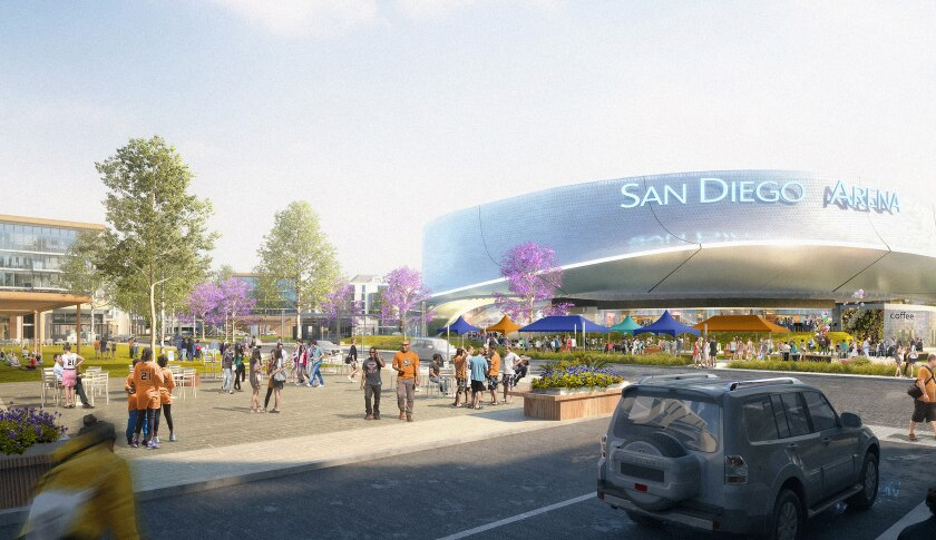An artist rendering shows Brookfield Properties' plans for redevelopment of the Sports Arena site.