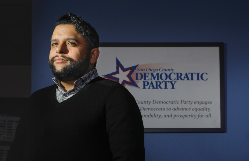 Will Rodriguez-Kennedy, the chairman of the San Diego County Democratic Party, in a photo taken Feb. 15, 2019.