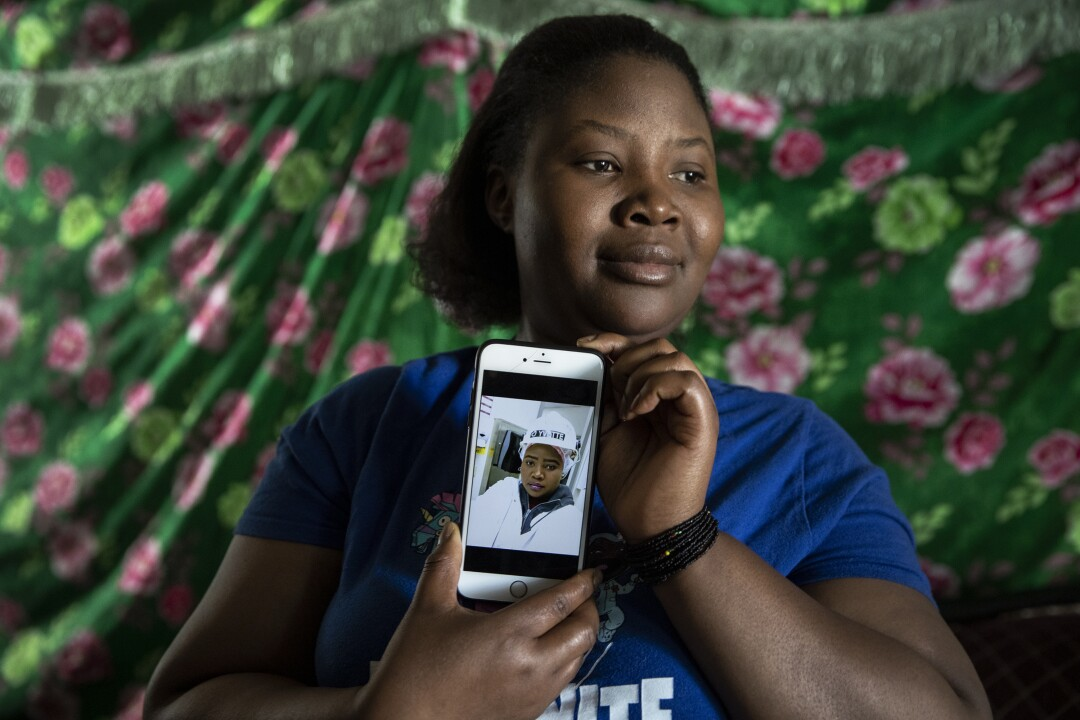 Yvette Nimenya, 32, has worked for eight years at the Smithfield plant with her husband, Jeremie Nimpaye.