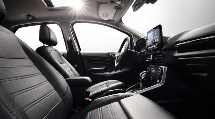 EcoSport interior features an eight-inch touchscreen.