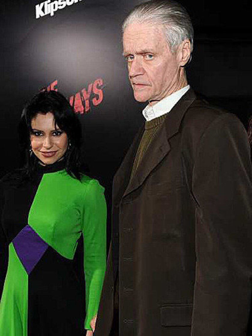 Music producer Kim Fowley, right, in 2010.