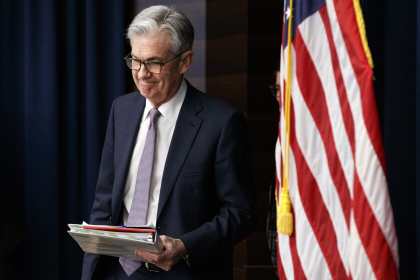 Federal Reserve chief Jerome Powell
