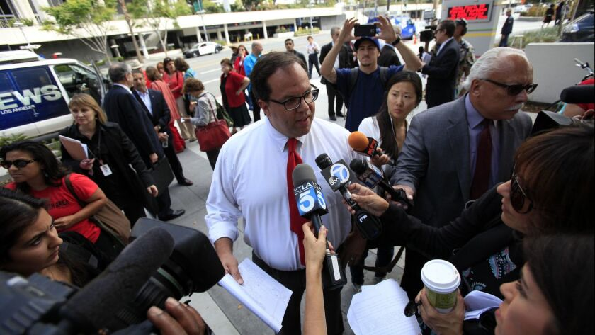 Teachers union President Alex Caputo-Pearl, shown here in a file photo, wants L.A. Unified to hire more teachers, counselors and nurses.