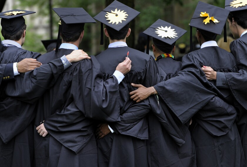 Many college seniors are still looking for jobs