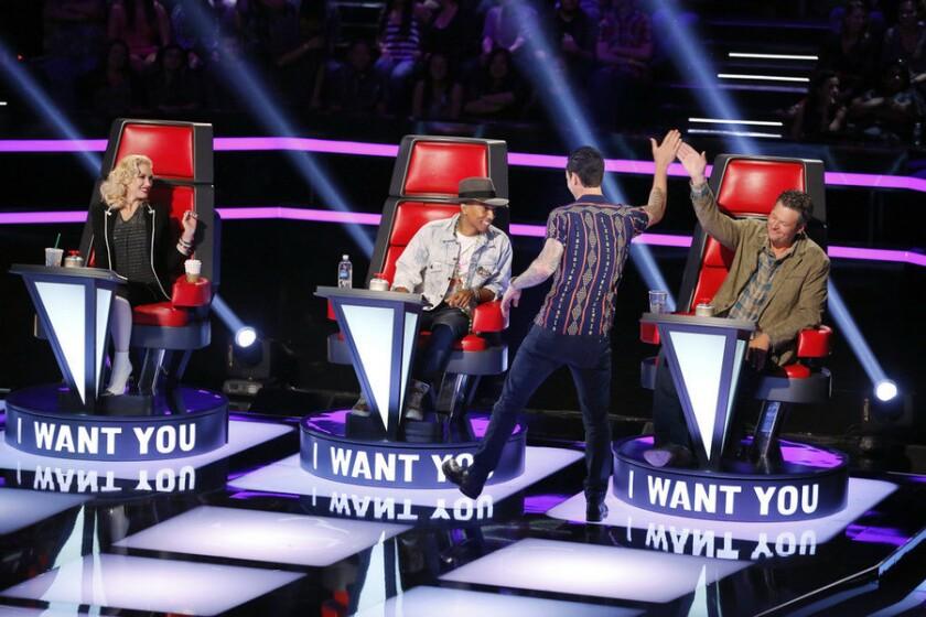 Gwen Stefani, Pharrell Williams, Adam Levine, Blake Shelton