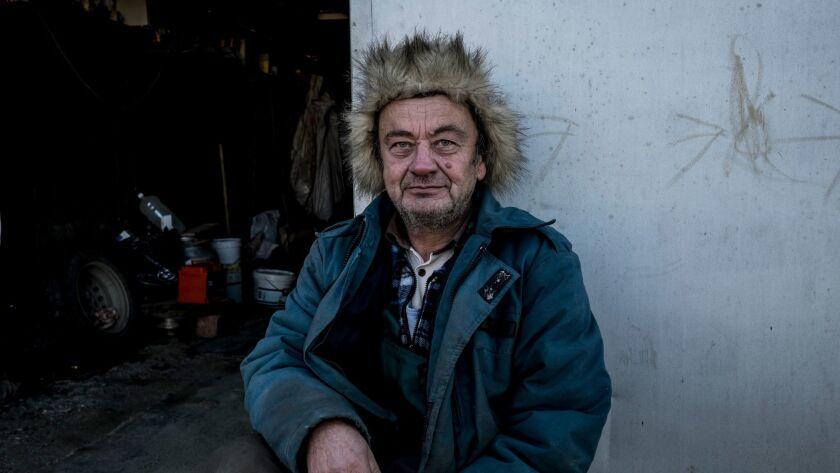Boris Salomatin, 60, a pensioner living in Khudaiberdinsk. November 28th, 2017