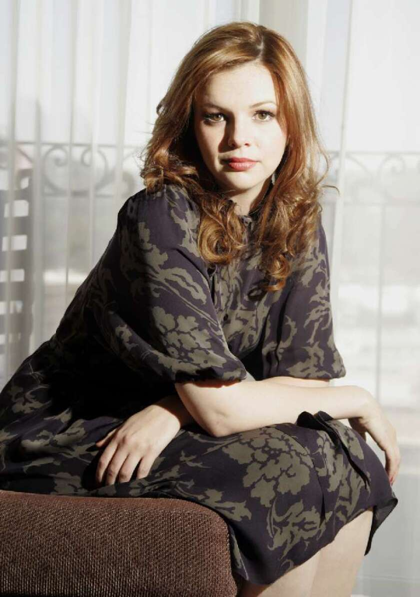 "Amber Tamblyn, pictured in 2007, will play Charlie Harper's lesbian daughter on ""Two and a Half Men."""