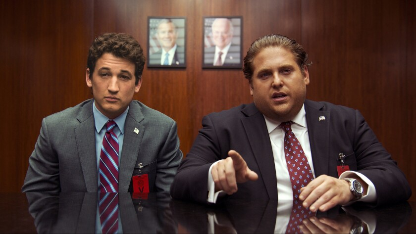 "Miles Teller, left, and Jonah Hill in a scene from ""War Dogs."""