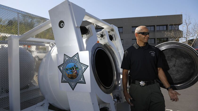 Sheriff's Bomb/Arson Unit gets new containment vessel