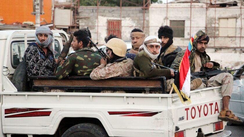 Separatists take over government headquarters in Aden, Yemen - 28 Jan 2018