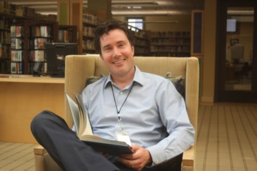 La Jolla Library's new head librarian, Shaun Briley. Ashley Mackin