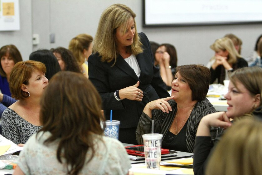 Andree Grey, seen here when she worked as an administrator at Temecula Valley Union School District, is the choice to lead the Encinitas Union School District.