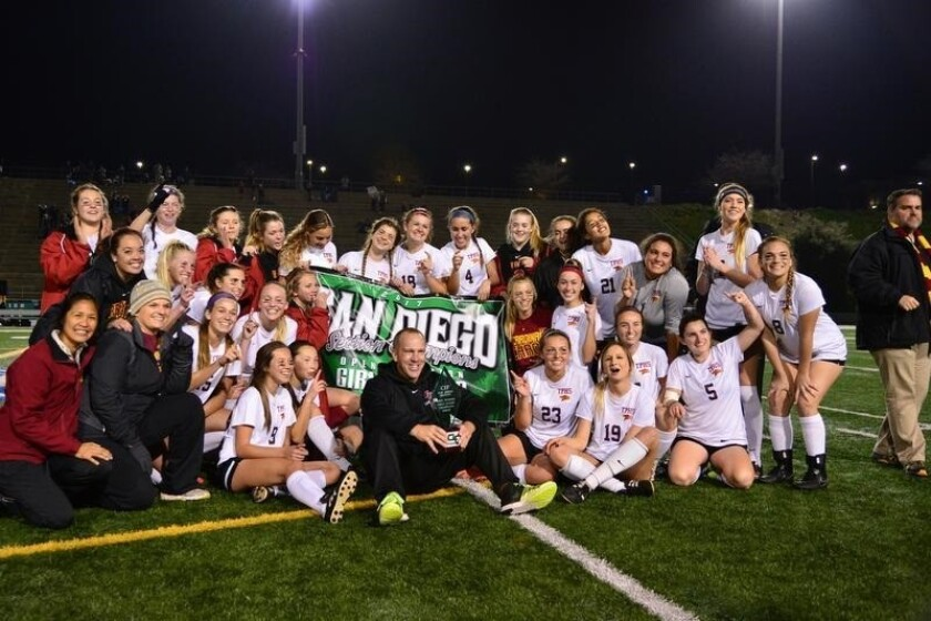 The Torrey Pines girls soccer team won the CIF Open Division championship on March 3.
