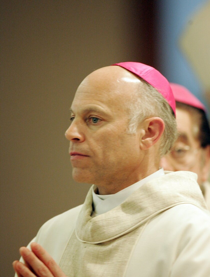 This photo of Archbishop-elect Salvatore Cordileone was taken in March, 2007 at a mass at  the Church of the Good Shepherd in  Mira Mesa.