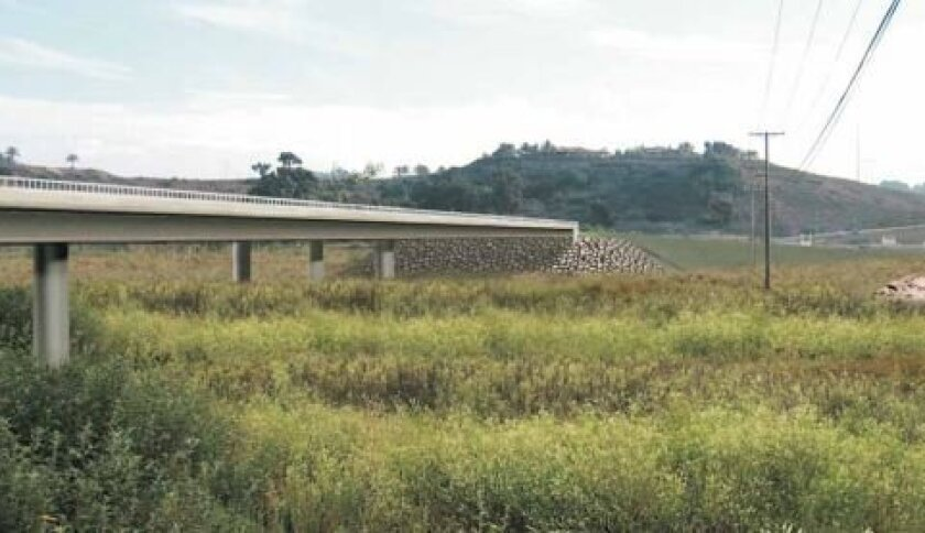 A rendering of the new El Camino Real bridge.