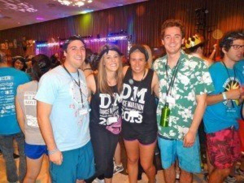 Dance Marathon participant Tad McCardell (far right) Courtesy photo