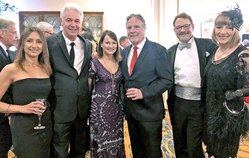 Diane and Mark Hough, from left, Joan and John McCarthy, and Lee and Jill Harry attend the Hillsides gala.