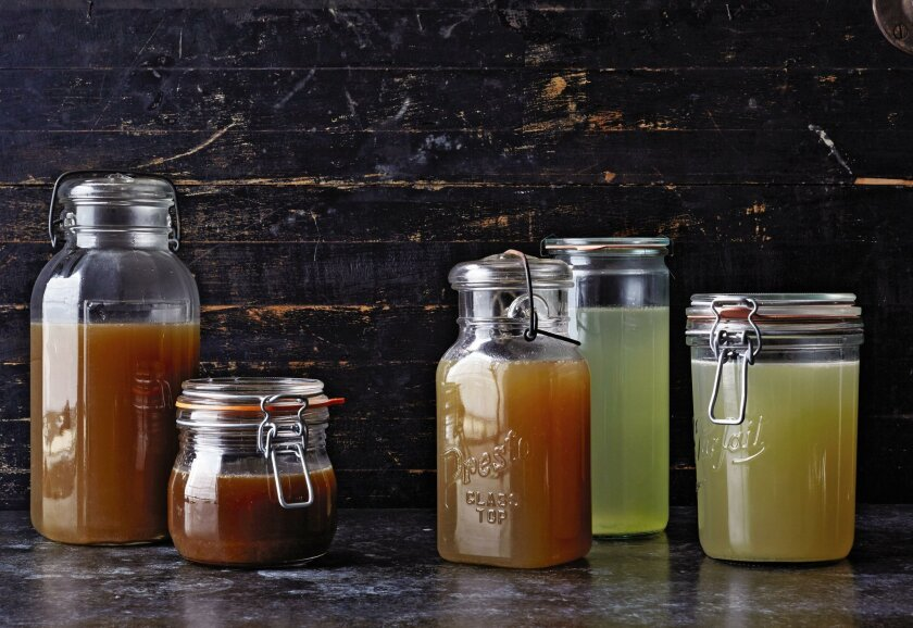 """Broths and stocks from """"The Bare Bones Broth Cookbook."""""""