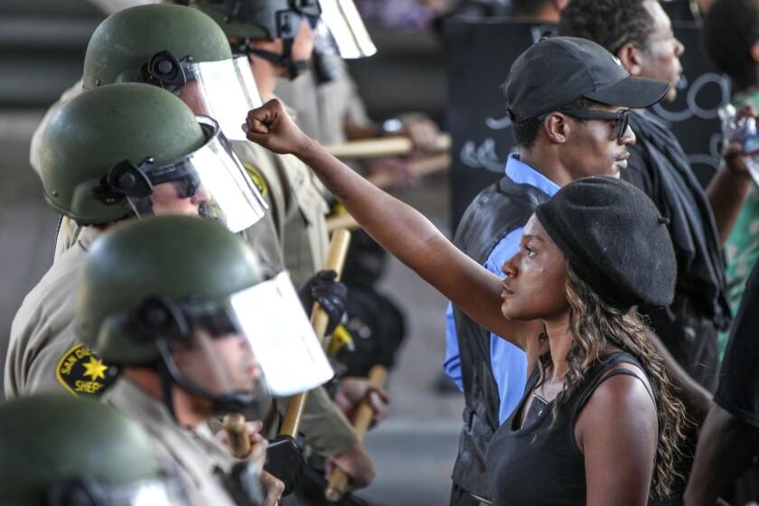 Olango shooting protests