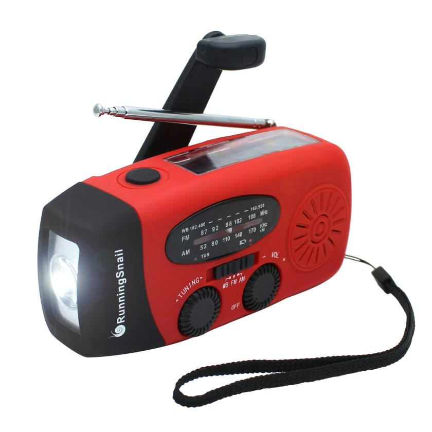 It's a radio, it's a flashlight....no, it's a hand-crank, solar emergency radio flashlight!
