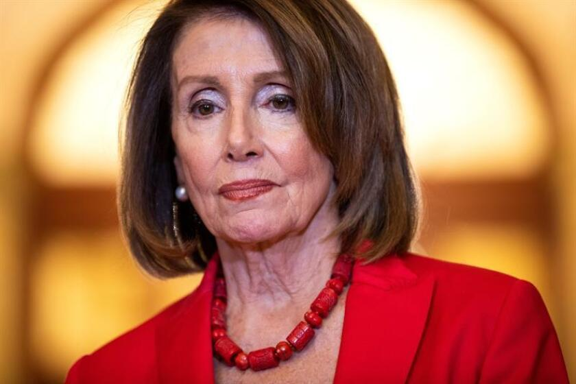 La presidenta de la Cámara Baja de EE.UU., la demócrata Nancy Pelosi. EFE/Archivo