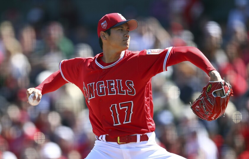 Shohei Ohtani will not pitch again until next season following his elbow-ligament replacement surgery last season.