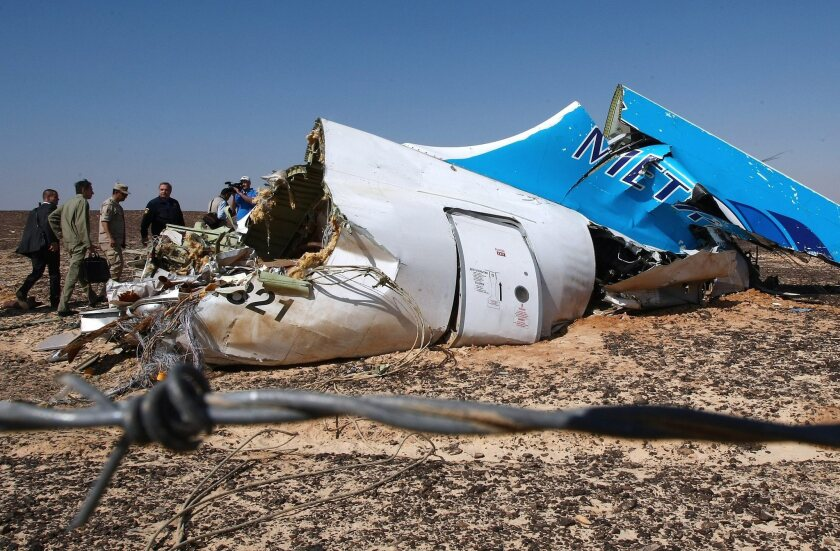 Russian plane crashes in Egypt with 224 aboard