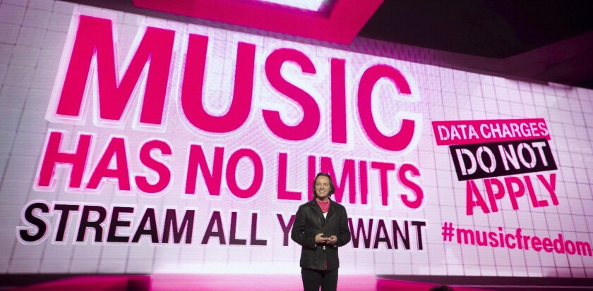 T-Mobile CEO John Legere, shown at a company event Wednesday in Seattle.