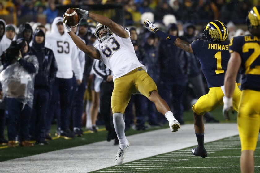 APTOPIX Notre Dame Michigan Football