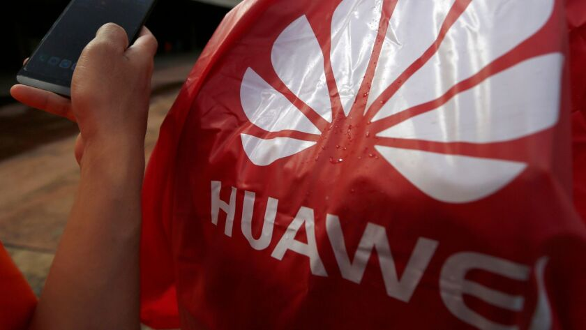 Huawei smartphone sales have dropped in the capital's retail shop for more than a week, Phnom Penh, Cambodia - 06 Jun 2019