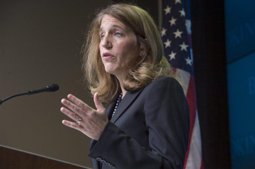 Health and Human Services Secretary Sylvia Mathews Burwell speaks in Washington on Tuesday.
