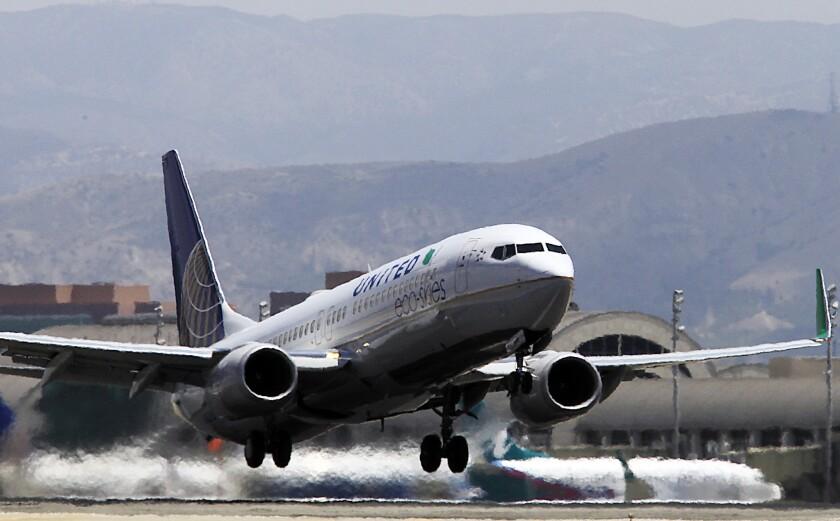 John Wayne passengers may get new thrill in zigzag takeoff