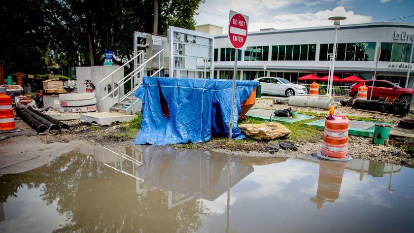 Flooding in Miami Beach